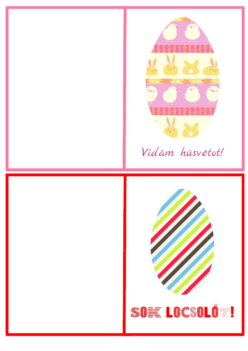 nyomtatható húsvéti üdvözlőlap
