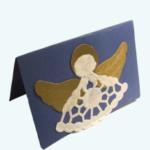 Angyalkás üdvözlőlap