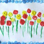 Virág nyomda – építőjátékokból