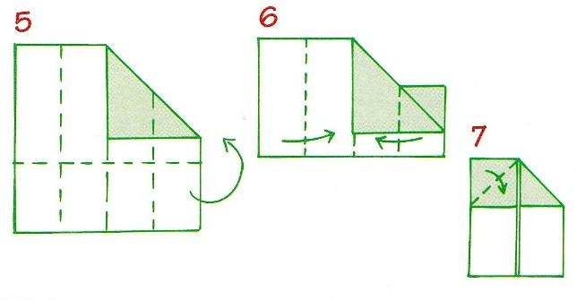 origami házak 5-7