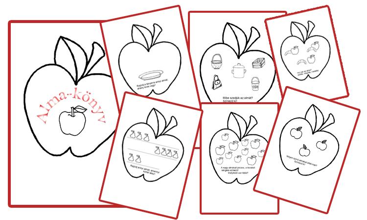 Nyomtatható foglalkoztató az almáról