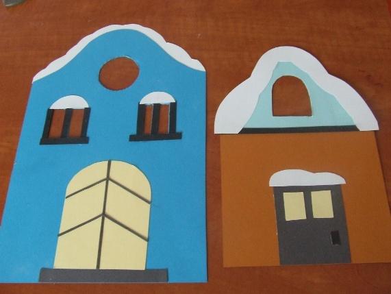 Téli házikók – dekoráció