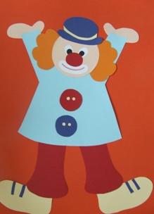 Vicces bohócok – farsangi dekoráció