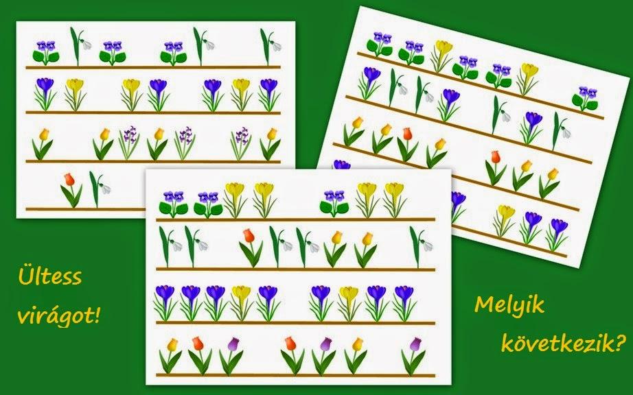 Letölthető tavaszi ovis feladatok