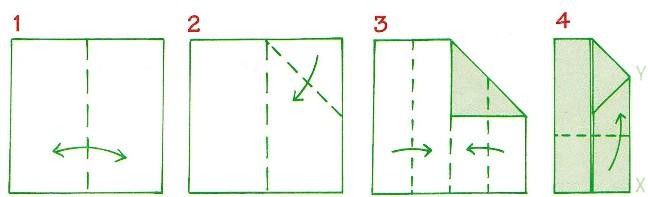 origami házak 1-4