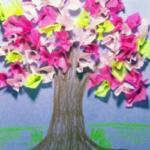 Tavaszi fák – kreatív ötletek gyerekeknek