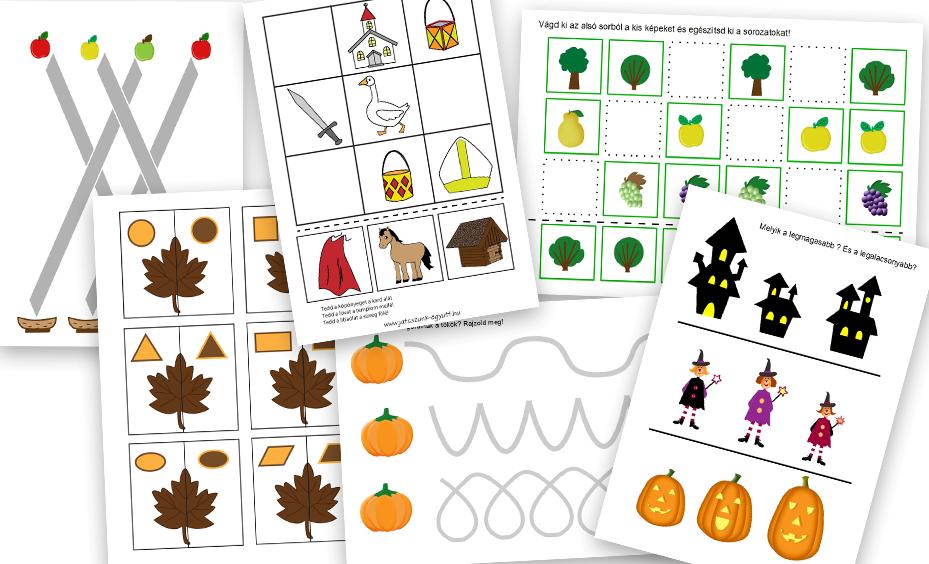őszi gyümölcsös ovis feladatok