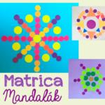 Mandala alkotás matricákból