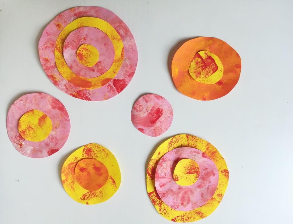 nyári virág festés gyerekekkel