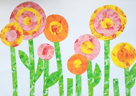 Nyári virágoskert festéssel – kreatív ötlet gyerekeknek