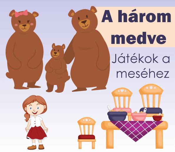 A három medve – játékok és bábok a meséhez