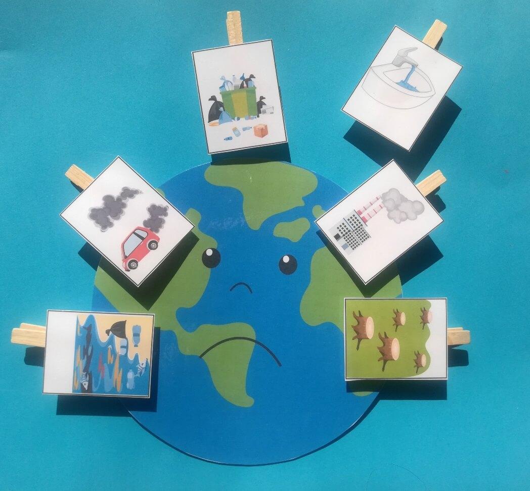 Föld napja nyomtatható játékok