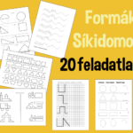 Formák, síkidomok – 20 nyomtatható ovis feladatlap