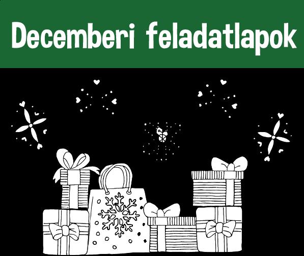 Decemberi feladatlapok