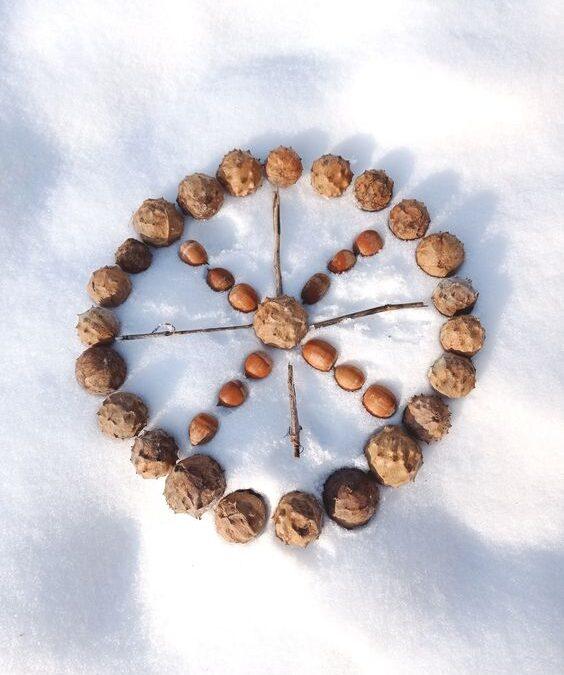 Téli mandalák – játék a hóban